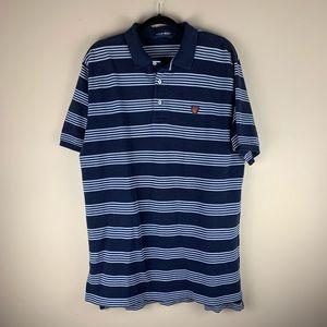 Ralph Lauren POLO Golf Navy Striped Polo Shirt XL